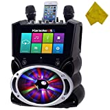 WiFi Bluetooth Karaoke System, 9' Color Touch Screen, and Record Function