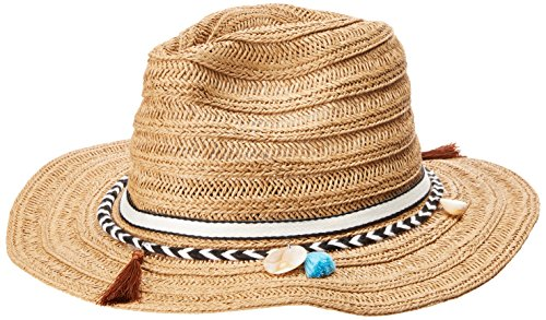 51aABIJerqL Base of hat adorned with an Aztec inspired band Aztec band features intricate tassels for an added touch of fun