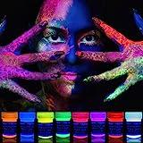 neon nights 8 x UV Body Paint Black Light Make-Up 5.5 fl oz Bodypainting Neon Blacklight Bodypaint Face Paints