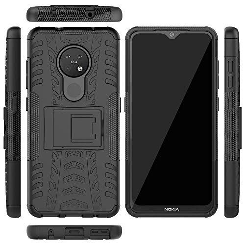 Soezit Back Cover Kickstand View Armor Case for Nokia 7.2 (Black) 3