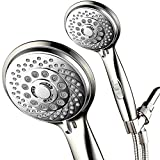 HotelSpa 7-Setting Ultra-Luxury Handheld Shower-Head with Patented On/Off Pause Switch (Brushed Nickel/Chrome)