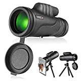 TACKLIFE Monocular Telescope, Monocular Scope with BAK4 Prism, Rotating Eye Mask, Multi-Green Coated Lens for Bird Watching, Hunting, Camping, Phone Adapter and Compact Tripod Include - MCL01
