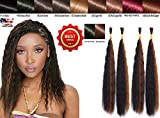 Wet N Wavy Bulk hair QUALITY HAIR Micro Braiding Super Bulk Style 2 Packs (4 Bundles) DEAL Length 18 Inch (OMBRE #1B/#30)