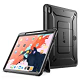 SUPCASE iPad Pro 11 Case 2018 Support Pencil Charging with Built-in Screen Protector Full-Body Rugged Kickstand Protective Case for iPad Pro 11 inch 2018 Release-UB Pro Series (Black)