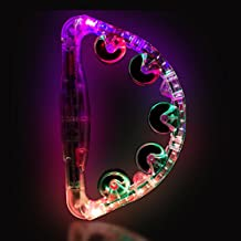 Clear LED Light up Musical Flashing Tambourine