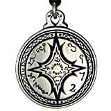 Talisman For Mastery of the Magical Arts Black Pullet Pentacle Pendant Hermetic Pagan Wiccan Jewelry