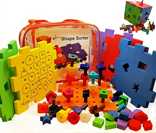 Shape sorter pegboard stacking toy girls or boys for Kitchen set for 1 year old