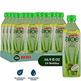 Iberia Aloe Vera Juice Drink (Pack of 24), Soursop, 16.9 fl. oz. BPA Free Bottles with Pure Aloe Pulp, No Artificial Flavors Preservatives or Colors, Convenient Healthy Soursop Juice Drink