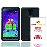 Zerolemon Samsung Galaxy Note 4 10000mah Extended Battery with NFC + Rugged ZeroShock Rugged Case (Fits All Versions of Galaxy Note 4) - Black