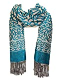 Ladies Celtic Knot Scarf, Irish Style, Celtic Fashion, Lightweight, Turquoise