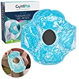 Gel Eye Mask for Sleeping, 2 Pack - Reusable Hot and Cold Compress Wrist/Ankle - Gel Bead Therapy for Migraine, Sleep, Puffy Eyes, Headache Relief - Ice Pack or Heat Pack - by ComfiPak (Eye)