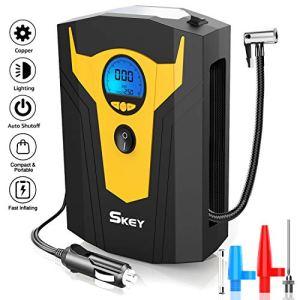 Skey Air Compressor Tire Inflator – Electric Auto Pump 12V DC Portable Air Compressor Pump Digital Tire Inflator Car… 51aNnAbE3 L