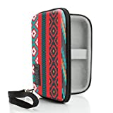 USA Gear JUUL Vape Case with eCigarette & Pod Travel Storage - Weather & Scratch Resistant, Wrist Strap, Compact Design with Hard Shell Exterior - Southwest