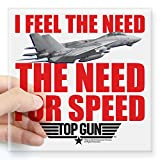 CafePress Top Gun Need for Speed Square Sticker 3 X 3 Square Bumper Sticker Car Decal, 3'x3' (Small) or 5'x5' (Large)