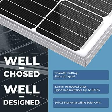 BougeRV-180-Watts-Solar-Panel-12-Volts-Monocrystalline-Solar-Cell-Charger-High-Efficiency-Module-for-RV-Marine-Boat-Off-Grid