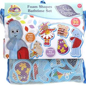 IN THE NIGHT GARDEN 1684 30 Foam Pieces Featuring Key Characters Including Igglepiggle, Upsy Daisy, Makka Pakka & More, Bath Time Fun for Kids Age 1, 2, 3 Years Old, Multi 51aT2oDQqgL