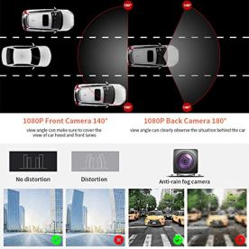Dash-Cam-for-Car-Dual-1080P-Recorder-Camera-Front-and-Rear-with-ADAS-GPS-686-Touch-Screen-Dashboard-DVR-Monocular-Panorama-360-Degree-Surround-View-Parking-Monitoring-System-for-Car-Truck