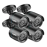 SANNCE 720P HD-TVI 1280TVL CCTV Security Camera,3.6mm Lens 24 IR LEDs, 66ft Long Night Vision,Outdoor Weather-proof Surveillance Camera Only for TVI DVR Recorder(Pack of 4)