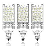 TSOCO E12 LED Bulbs,12W LED Chandelier Light Bulbs,100 Watt Equivalent,6000K Daylight White,1200LM,Non-Dimmable Ceiling Fan Light Bulbs,Pack of 3