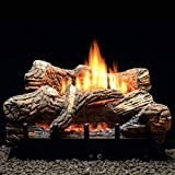 Thermostat 6-piece 30 inch Ceramic Fiber Log Set - Natural Gas