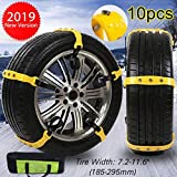 Snow Tire Chains Straps Car Safety Chains Snow Chains Tire Cables Traction for Cars Mud Sand Water Any Snow Raining Slippery Road,Ice Breaker Self-Driving Tour Essential,30 Seconds Quick Installation
