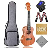 Tenor Ukulele Ranch 26 inch Professional Wooden ukelele Instrument Kit With Free Online 12 Lessons Small Hawaiian Beginner Guitar ukalalee Starter Pack Bundle Gig bag&Tuner& Strap&4 Aquila Strings Set