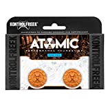 KontrolFreek Atomic for PlayStation 4 (PS4) Controller | Performance Thumbsticks | 2 Mid-Rise Convex | Orange