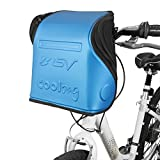 BV Insulated Handlebar Bag for Warm or Cold Items, Shoulder Strap & Quick-Release Handlebar Mount, Available in 2 Colors BV-HB3 (Blue)