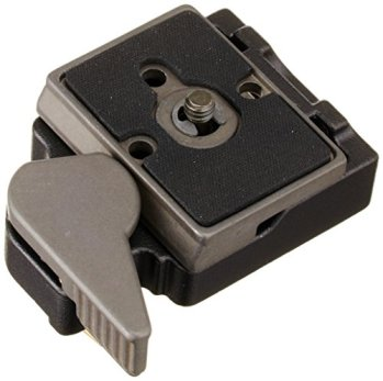 Manfrotto-323-RC2-Rapid-Connect-Adapter-with-200PL-14-Quick-Release-Plate-Replaces-3299-Black