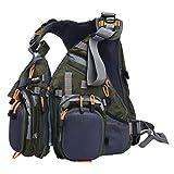 Amarine Made Fly Fishing Backpack Adjustable Size Mesh Fishing Vest Pack, Fly Fishing Vest and Backpack Combo