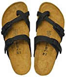 AEROTHOTIC - Genuine Suede Leather and Cork Footbed Sandals for Women (US-Women-9, Minerva Black)