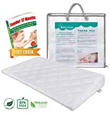 Crib Foam Wedge Pillow for Baby Acid Reflux & Gas Relief | 12 Degree Elevation Pillow | Travel Wedge Pillow with Carry Bag | Waterproof Wedge Pillow Case Cover | Infant Congestion Sleep Solution