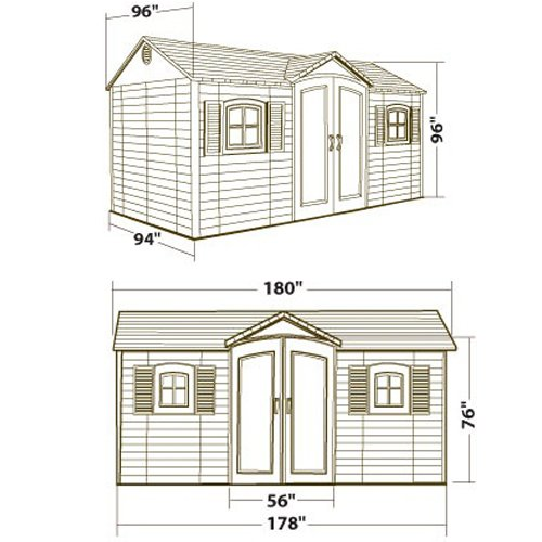 Lifetime-6446-Outdoor-Storage-Shed-with-Shutters-Windows-and-Skylights-8-by-15-Feet