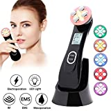 Face Lifting Machine 5 in 1 Skin Tightening Machine EMS Massager for Wrinkle Remover Anti-aging Colors Light Beauty Device