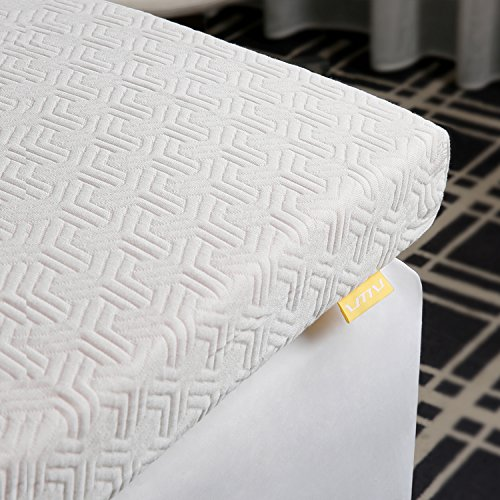 UTTU 3-Inch Red Respira Memory Foam Mattress Topper, 2-Layer Ventilated Design Bed Topper, Removable Hypoallergenic Soft Cover, CertiPUR-US - King Size