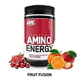 OPTIMUM NUTRITION ESSENTIAL AMINO ENERGY, Fruit Fusion, Keto Friendly BCAAs, Preworkout and Essential Amino Acids with Green Tea and Green Coffee Extract, 30 Servings