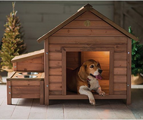 New Large Outdoor Dog House Wooden Kennel Puppy Pet