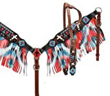 Product review for Showman Single Ear Headstall and Breast Collar Set with Fringe with Cross Detail