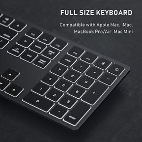 Wireless-Bluetooth-Keyboard-Compatible-Mac-Bluetooth-Keyboard-with-7-Color-Backlit-Rechargeable-Computer-Keyboards-with-Numeric-Keypad-Compatible-with-Apple-Mac-iMac-MacBook-ProAir-Mac-Mini