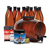 Mr. Beer Classic American Light Homebrewing Craft Making Kit with All Grain Extract Beer Refill and Convenient 2 Gallon Fermenter