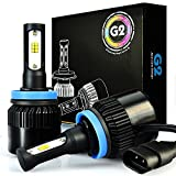 JDM ASTAR G2 8000 Lumens Extremely Bright CSP Chips H11 H9 H8 All-in-One LED Headlight Bulbs Conversion Kit, Xenon White