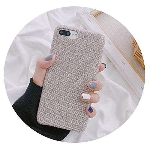 Cloth Shell Simple Phone Case for iPhone 6 6s 7 8 Plus Case Soft Silicone Fabric Textile for iPhone X XS Max XR Back Cover,09,for iPhone 8 Plus
