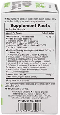 NaturesPlus GI Natural Probiotic Capsules, Mega - 30 Capsules - 35 Live Probiotic Strains & Prebiotics - Supports Stomach, Small Intestine, Large Intestine & Immune System - Gluten-Free - 30 Servings 2
