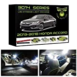 Fyre Flys 14 Piece White LED Interior Lights for 2013-2019 Honda Accord Super Bright 6000K 3014 Series SMD Package Kit and Install Tool