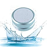Portable Waterproof Bluetooth Speaker, Exceptional Bass and Rich Stereo Sound, Plays Loud, Mosquito Reject, Build in Microphone, Play 2 together for Music in Dual Stereo, Splashproof (New) Grey