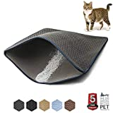 "WePet Cat Litter Mat Kitty Litter Trapping Mat 30 x 25"" Large Size Honeycomb Double Layer Design No Phthalate Urine Water Proof Easy Clean Scatter Control Litter Catcher Litter Box Rug"