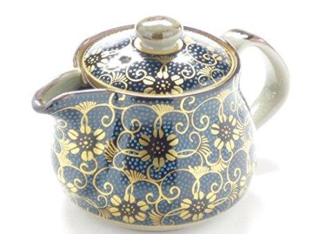 kutani hyakkaen teapot small aotibu