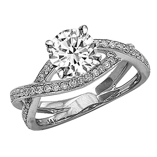 51asVav2leL Houston Diamond District offers a 30 day return policy on all of its products Side Diamonds on Engagement Rings with Sidestones are G-H Color SI1-SI2 Clarity We only sell 100% Natural, conflict free diamonds.