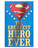 American Greetings Superman Hero Father's Day Greeting Card with Embossing
