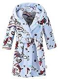 Boys' Flannel Robe, Warm Plush Fleece Bathrobe Hooded Pajamas Sleepwear Cosplay Costume Bath Robe for Toddler & Little Boys